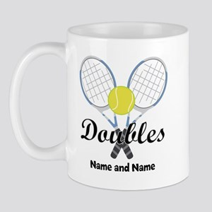 Personalized Tennis Doubles Mug