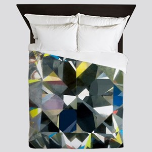 Cut and polished diamond - Queen Duvet