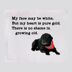 Old Black Lab Throw Blanket