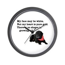 Old Black Lab Wall Clock