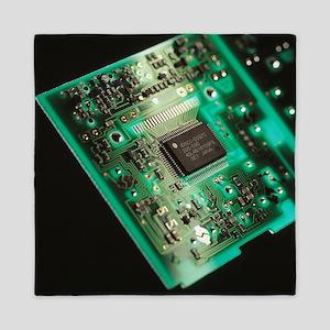 Computer circuit board - Queen Duvet