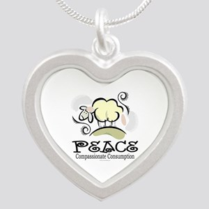 Animal Compassion Silver Heart Necklace