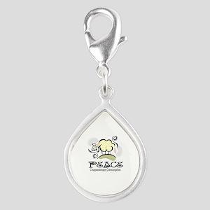 Animal Compassion Silver Teardrop Charm