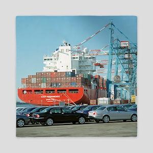 Container ship - Queen Duvet