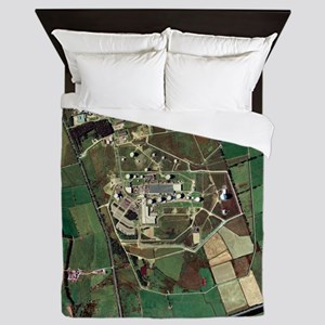Menwith Hill spy base, aerial image - Queen Duvet