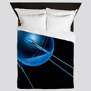 Sputnik 1 satellite - Queen Duvet