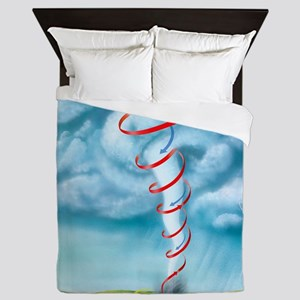 Tornado dynamics, artwork - Queen Duvet