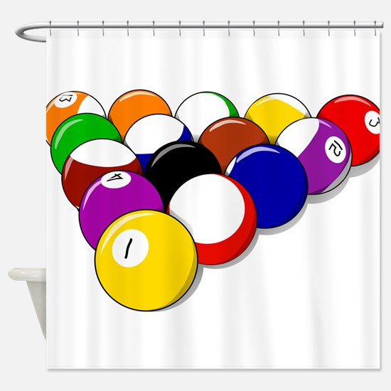 Eight Ball Rack Shower Curtain