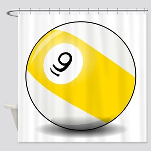 Nine Ball Shower Curtain