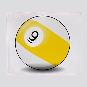 Nine Ball Throw Blanket