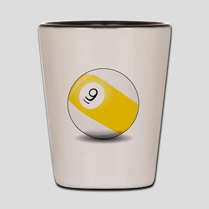 Nine Ball Shot Glass