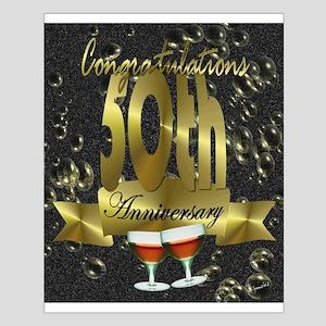 50th anniversary congradulations Small Poster