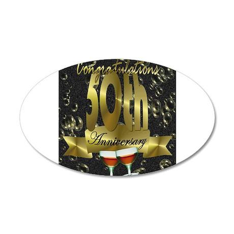 50th anniversary congradulations 35x21 Oval Wall D