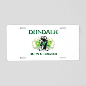 Dundalk Irish designs Aluminum License Plate