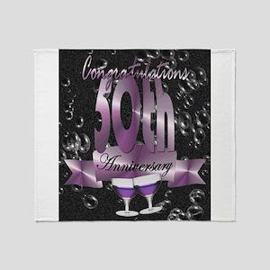 50th anniversary congratulations Throw Blanket