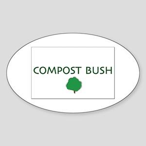 Compost Bush Oval Sticker