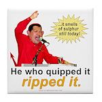 Hugo Chavez Sulphur Smell Tile Coaster