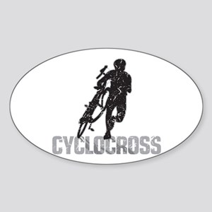 Cyclocross Sticker (Oval)