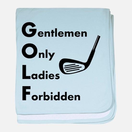 Gentlemen Only Golf baby blanket