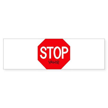 Stop Yahir Bumper Sticker