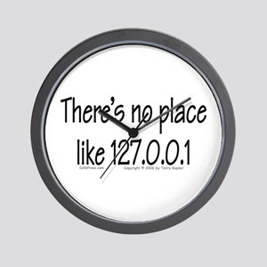 Home (text) Wall Clock