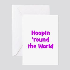 Hoopin 'round the World Greeting Cards (Package of