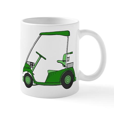 Green Golf Cart Mug