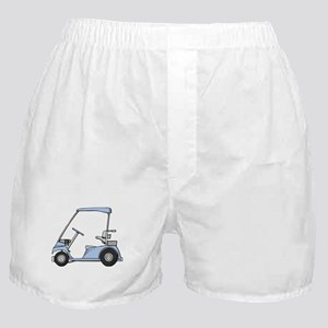 Blue Golf Cart Boxer Shorts