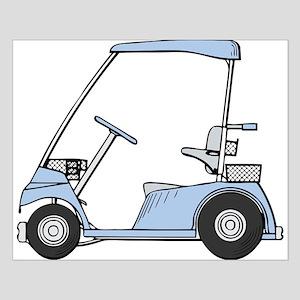 Blue Golf Cart Small Poster