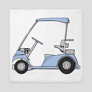Blue Golf Cart Queen Duvet