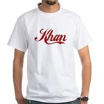 Khan name White T-Shirt
