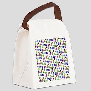 Colorful Bottle Pattern. Canvas Lunch Bag