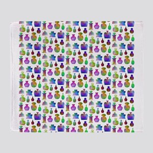 Colorful Bottle Pattern. Throw Blanket
