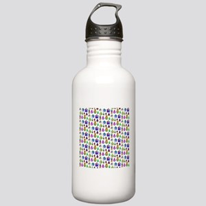 Colorful Bottle Pattern. Stainless Water Bottle 1.