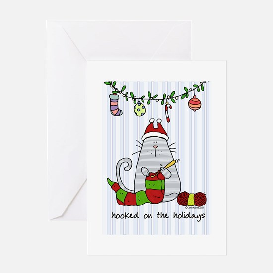 hooked on the holidays Greeting Cards