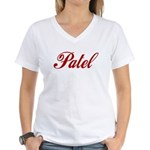 Patel name Women's V-Neck T-Shirt