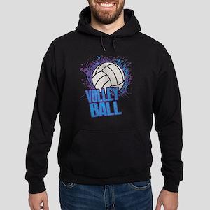 Volleyball Splatter Hoodie (dark)