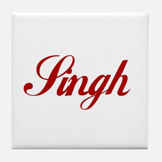 Singh name.png Tile Coaster