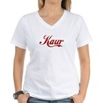 Kaur name Women's V-Neck T-Shirt
