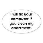 Clean Apart. Oval Sticker