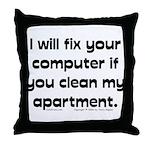 Clean Apart. Throw Pillow