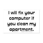 Clean Apart. Mini Poster Print