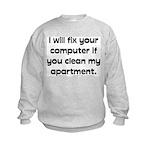 Clean Apart. Kids Sweatshirt