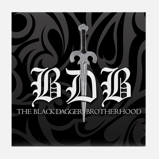 BDB Dagger Logo Black & Gray Tile Coaster