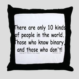 10 Kinds... Throw Pillow