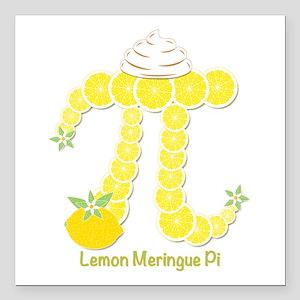 "Lemon Meringue Pi Square Car Magnet 3"" x 3"""