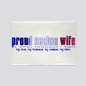 Proud Seabee Wife Rectangle Magnet