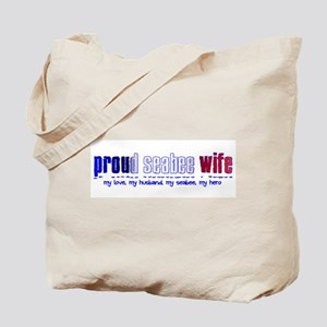 Proud Seabee Wife Tote Bag