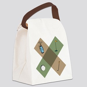 Golf Icon Canvas Lunch Bag