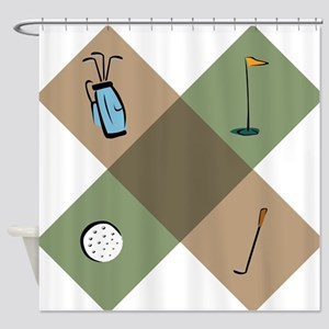 Golf Icon Shower Curtain